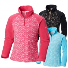 Columbia Girls Glacial II Print Half Zip Fleece
