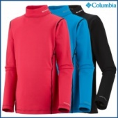 Columbia Youth Baselayer Midweight Mock Neck LS