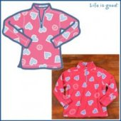 Life is Good Adorable Microfleece - Heart on Dark Pink