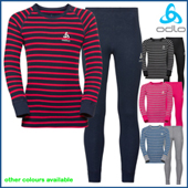 Odlo Kids Warm L/S Crew Shirt and Pant Set