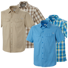 Columbia Silver Ridge Plaid SS Shirt - Mens