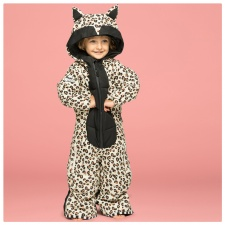 WeeDo Kids Snowsuit and Mittens - Leopard